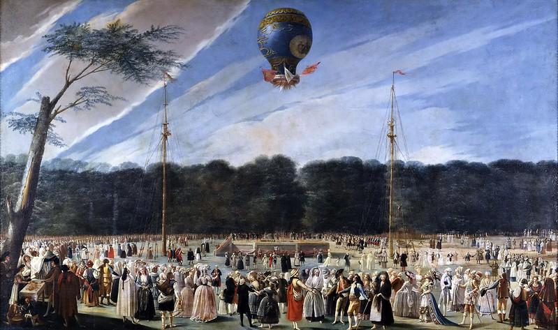 Antonio Carnicero - Ascensión de un globo Montgolfier en Aranjuez (1784)