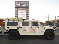 military vehicle(0.0), hummer h3t(0.0), automobile(1.0), automotive exterior(1.0), sport utility vehicle(1.0), vehicle(1.0), hummer h1(1.0), off-roading(1.0), off-road vehicle(1.0), land vehicle(1.0), luxury vehicle(1.0),