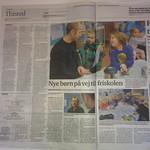 Thisted Dagblad, 24/1 '14 - Sebastian viser sin far et par fint tegnede Angry Birds