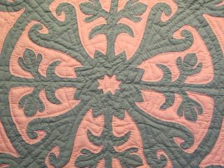 Part of Hawaiian quilt, III