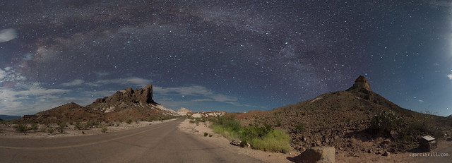 Cerro castellan and the milky way