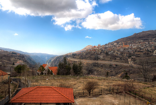 blue roof sky lebanon orange clouds jack town high village dynamic north roofs valley northern range lebanese hdr cedars bcharre qadisha quadisha seikaly jrseikaly
