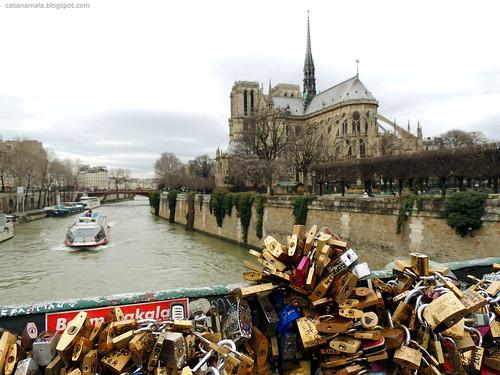 Pont de l'Archevêché e Notre Dame - Paris
