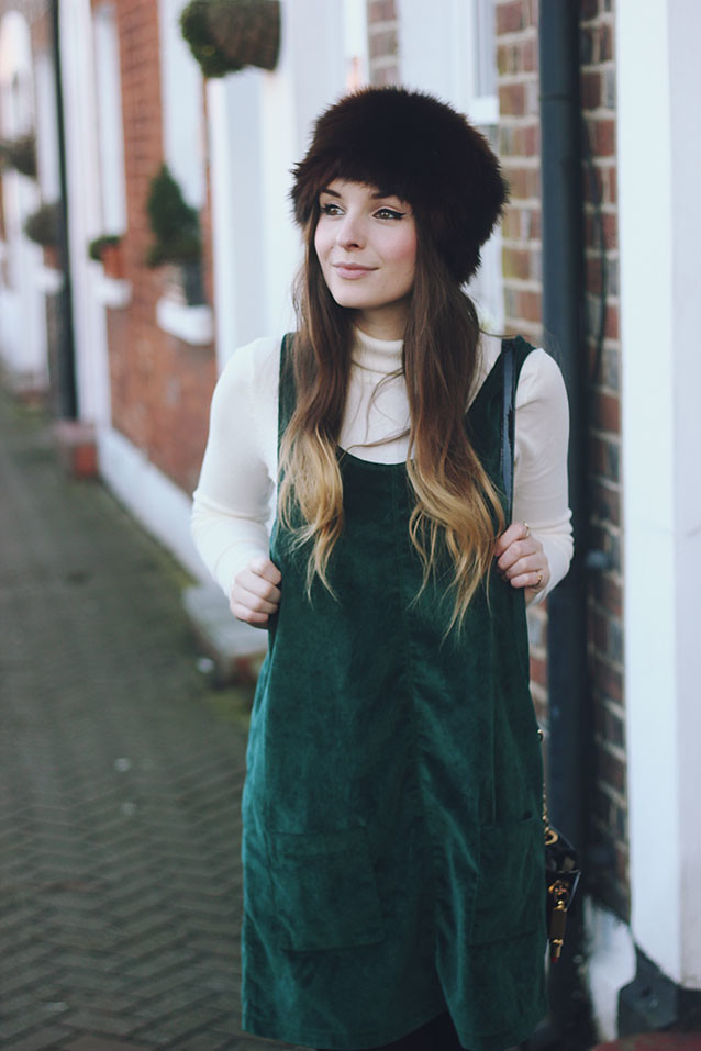 MINKPINK Dungaree dress cossack hat seventies style
