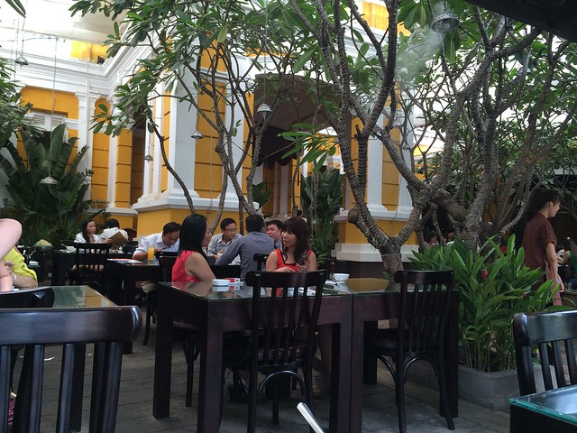 Nha Hang Ngon outdoor dining area