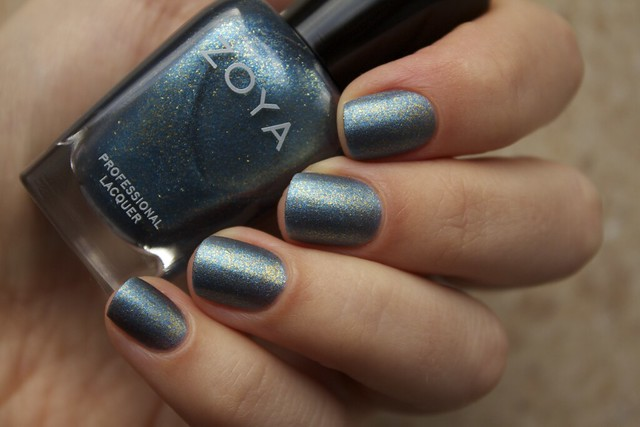 08 Zoya Crystal over Morgan Taylor Mattes A Wrap Top Coat swatches