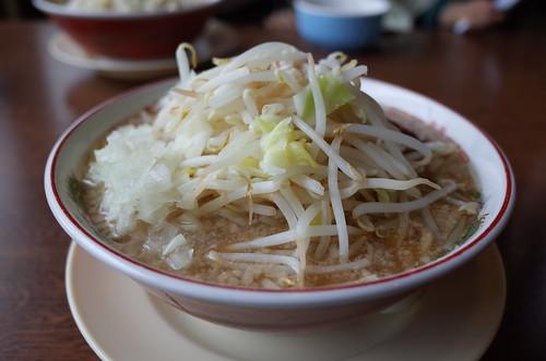 ラーメン肉1枚タマネギトッピング@ラーメンのろし安田店