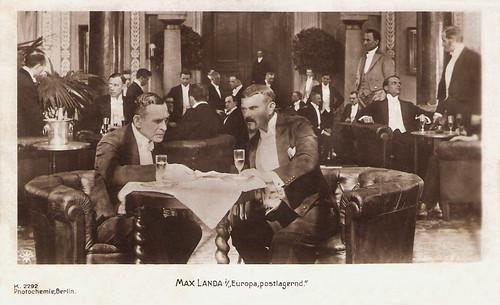 Max Landa in Europa Postlagernd