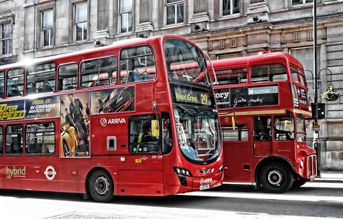 London Buses on Whitehall