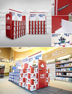 Molson Canadian Beer Store Display