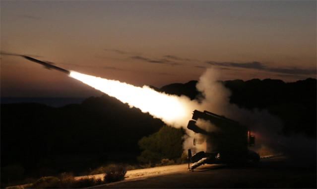 """Lanzamientos de misil """"Aspide"""""""