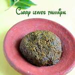 Curry leaves thuvaiyal/Karuveppilai thogayal