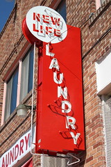 New Life Laundry Sign