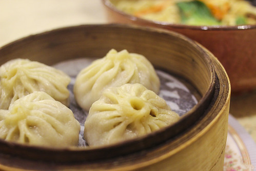 Soup Dumplings - literally filled with soup and meat!