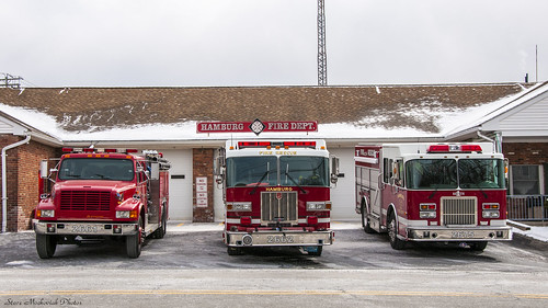 smack53 firetrucks fireengines fireapparatus firedepartment firestation hamburg newjersey winter wintertime nikon d300 nikond300