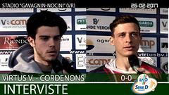 Virtus V.-Cordenons del 26-02-17