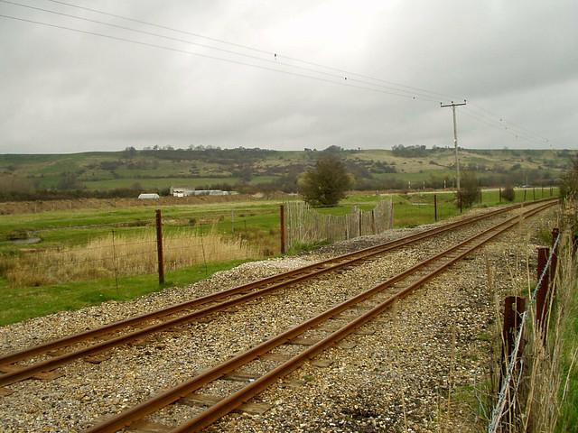 The Romney, Hythe and Dymchurch railway near Hythe