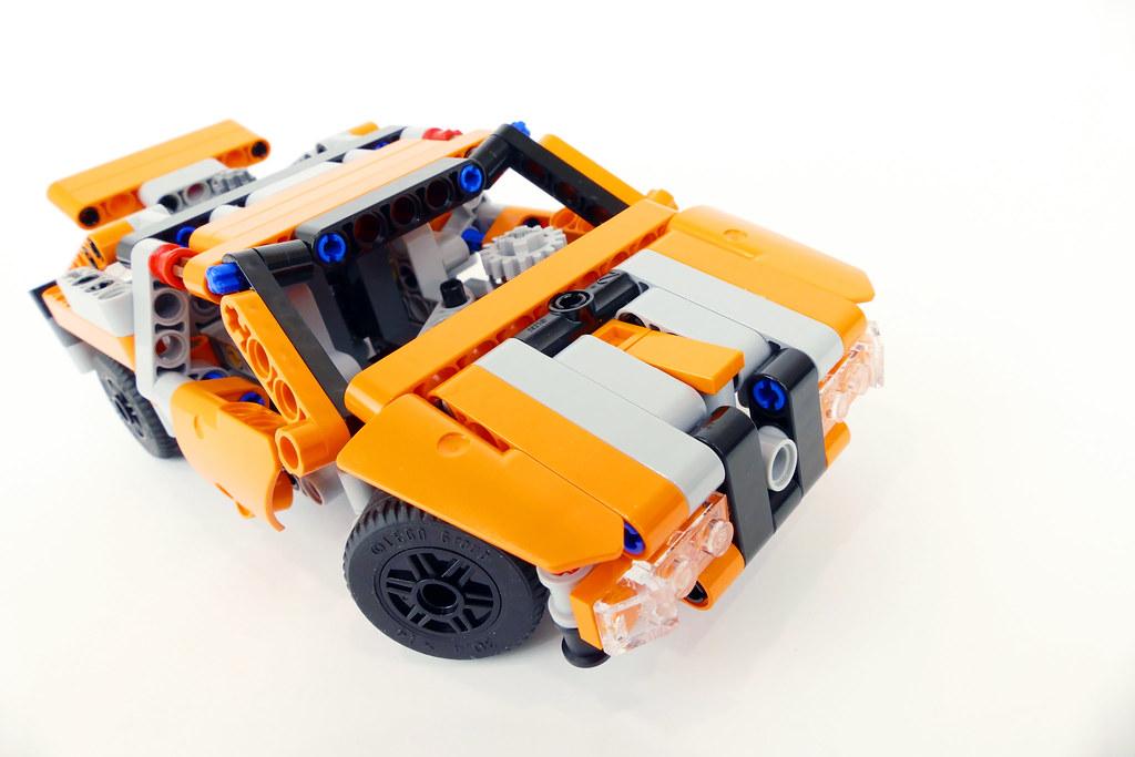 Orange Suppercar 42060 Alternate MOC
