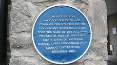 Photo of Low Mill Foundry blue plaque
