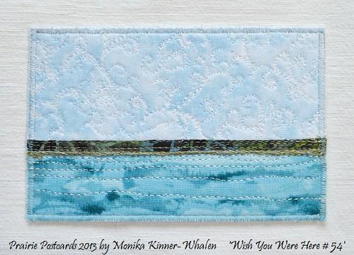 "Quilted Postcards - Mini Textile Landscapes  (4x6"") by My Sweet Prairie - Monika Kinner"