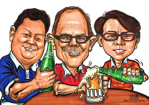 Carlsberg time caricatures for Ecolab