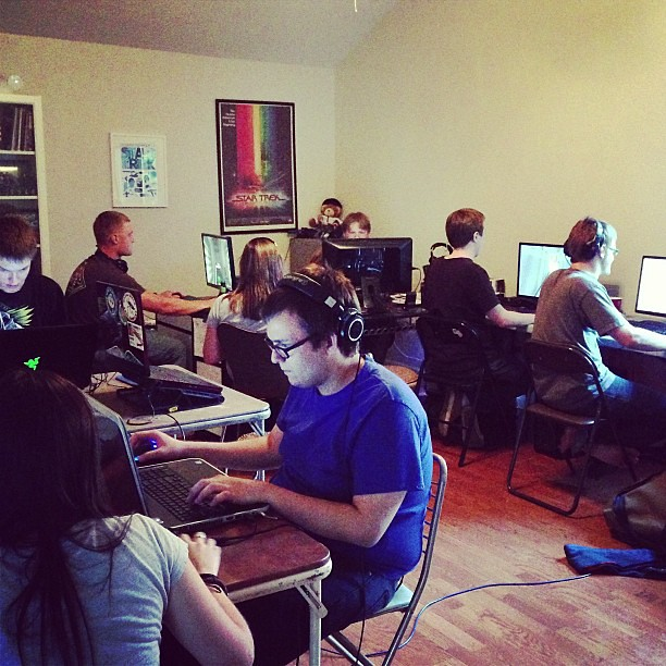 The gamers. #lanparty