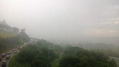 Sudden, massive hail storm with thunder #yegwx