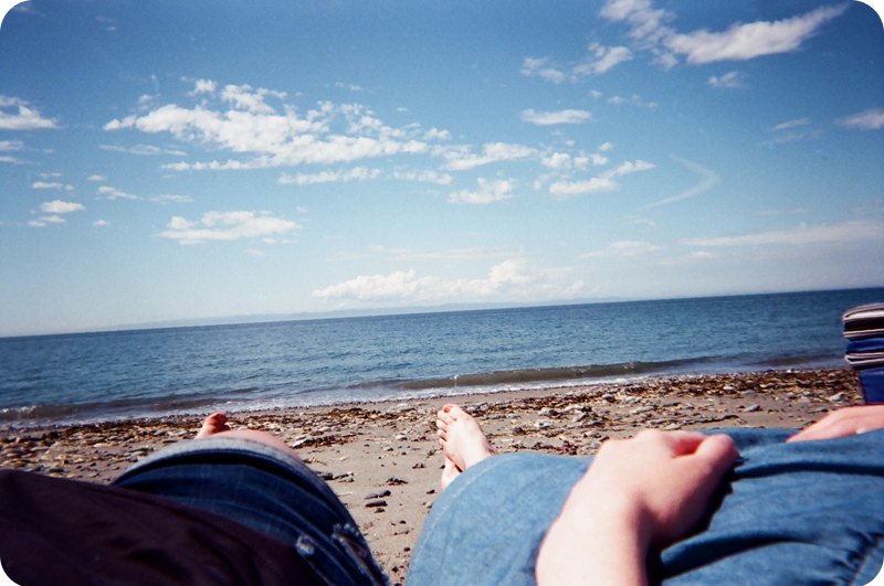 {disposable camera} beach bound | listening to music