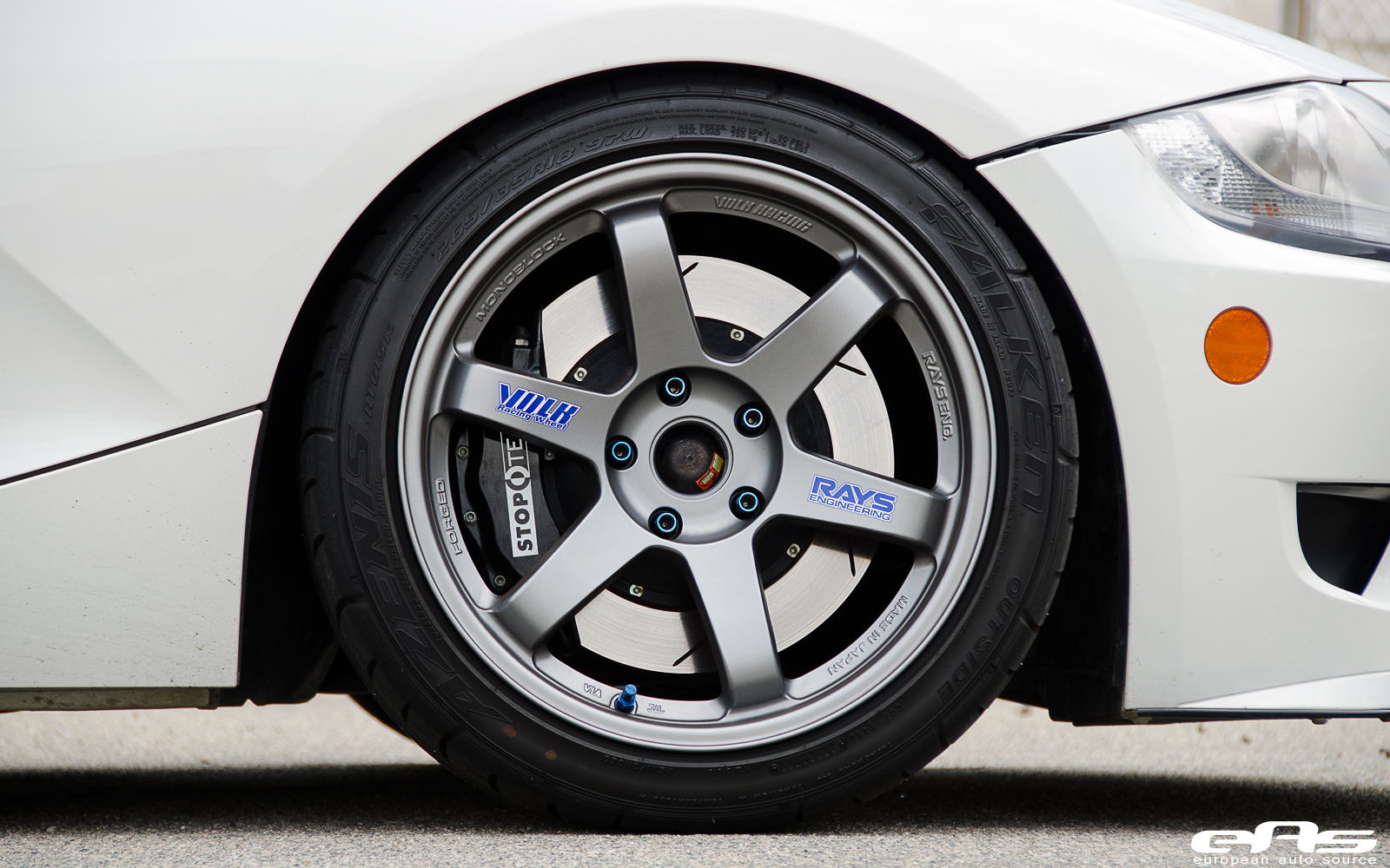 Volk Te37s Installed On Alpine White Z4m Bmw Performance