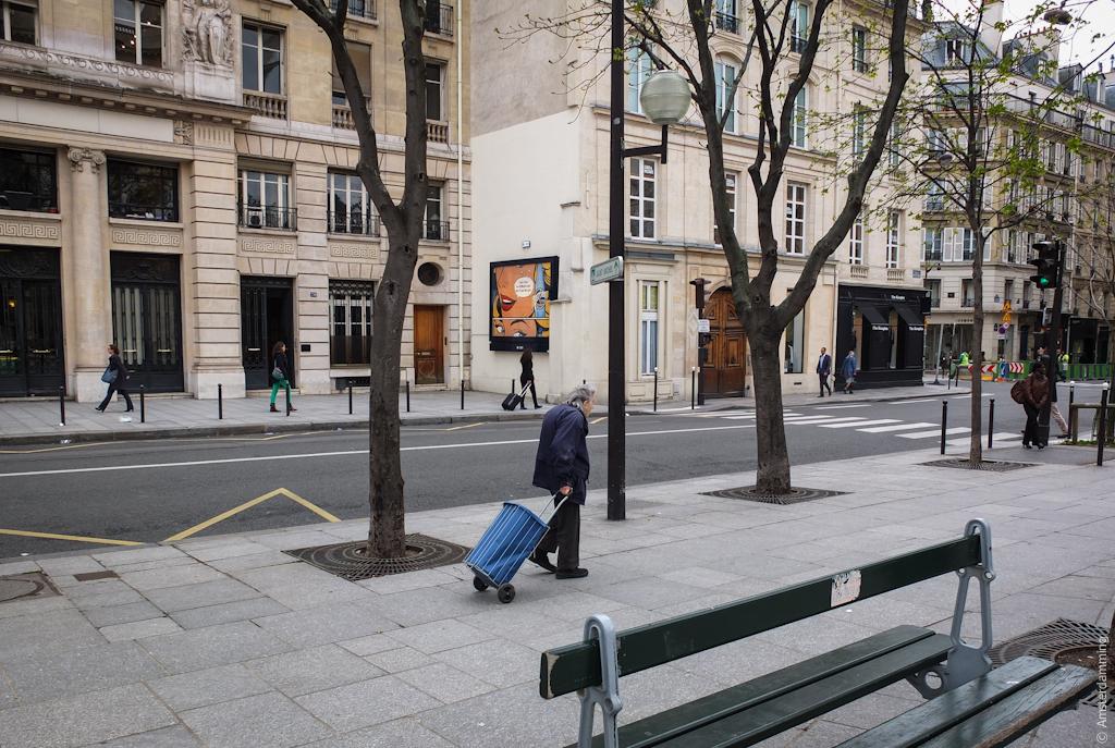 Paris, Two Women Carrying Something