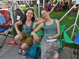 Climbergirls Waiting In Line at CO Brewer's Fest