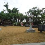 At Kakazu Park Numerous various memorials for the war.