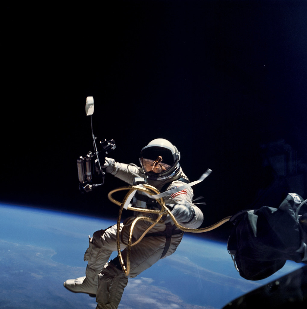 Ed White performs first U.S. spacewalk