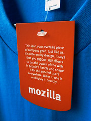 Mozilla Tag on Firefox OS T-Shirt