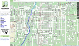Richmond, Indiana on OpenCycleMap (before)