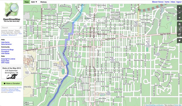 Creating an instant bike map for Richmond, Indiana