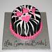 50 shades zebra cake