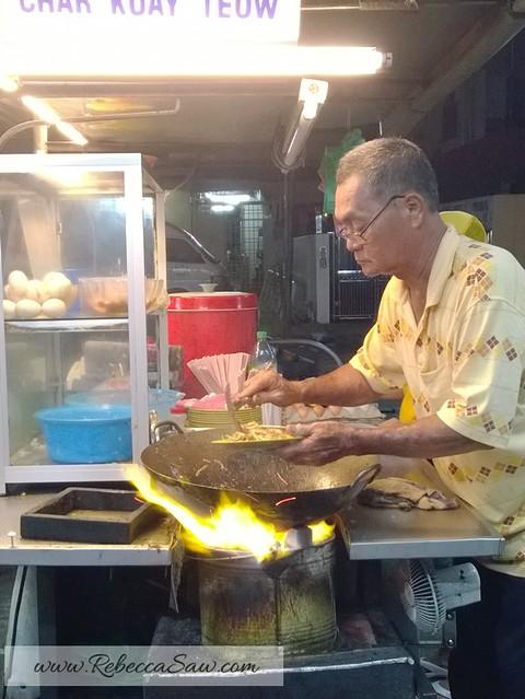 Penang Jalan Johor Char kuey teow - charcoal and duck egg