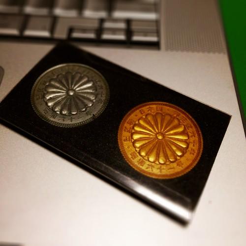 昭和天皇御在位60年記念コイン消しゴム、よくできてる。
