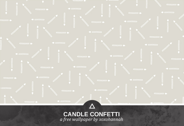 Candle Confetti Desktop Background Preview in Gray