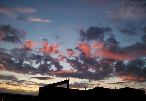 pink sunset sky yellow clouds закат небо розовый облака жёлтый