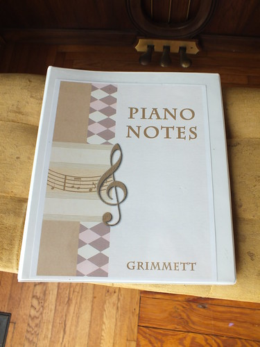 Family piano binder