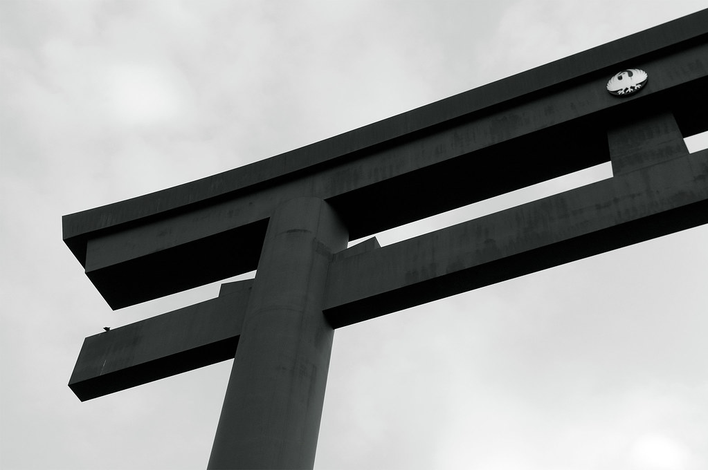 大斎原の大鳥居|熊野古道