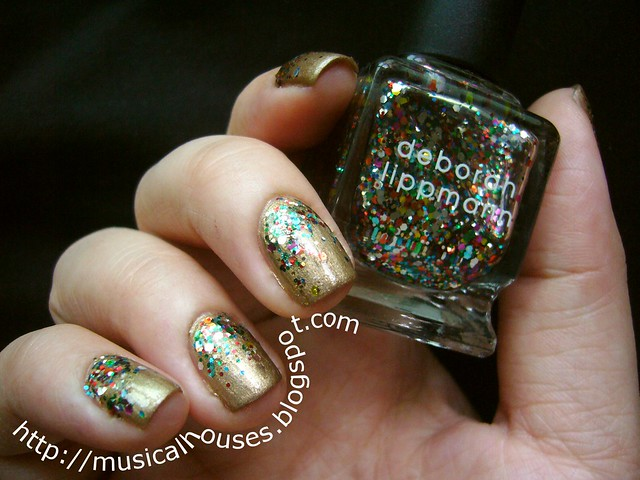 Gold and Glitter Libertine Fashion Week inspired manicure 3