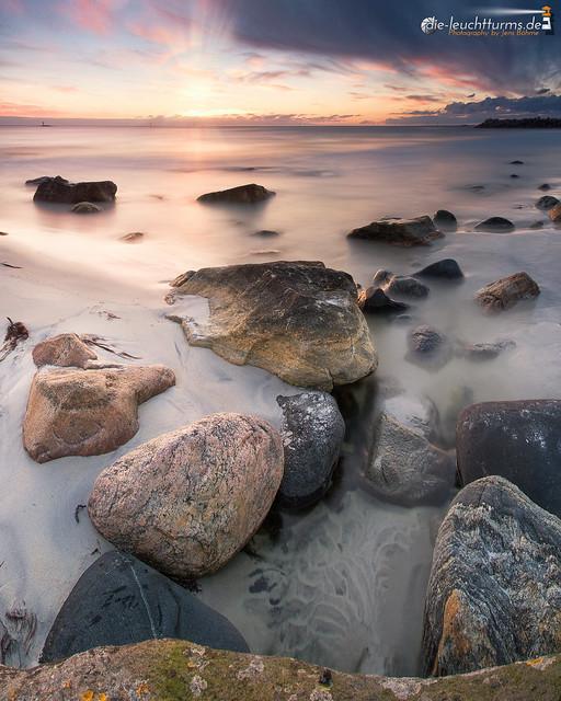 Sunset above Bleik Beach