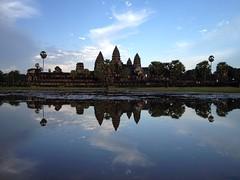 Angkor Wat and reflection