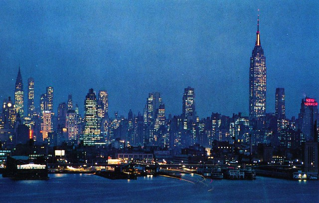 Midtown Manhattan Skyline at Night NY