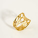 1-layer twist ring in gold-plated brass by nervous system
