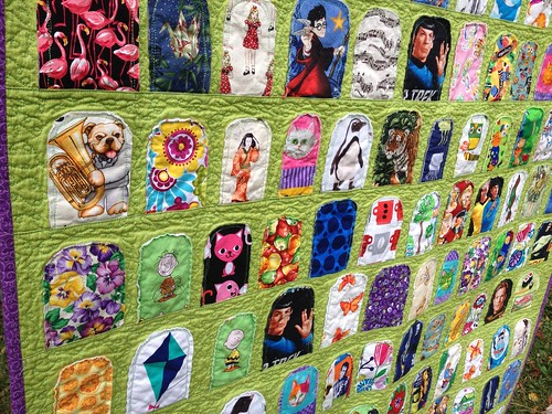 Penny's I Spy Quilt - close up of quilting