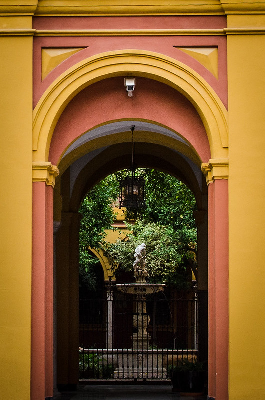 Lovely courtyards are hidden everywhere in Sevilla.